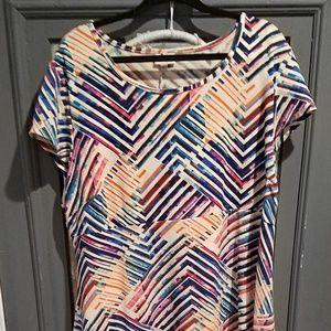 Plus Size Avenue Patterned Dress